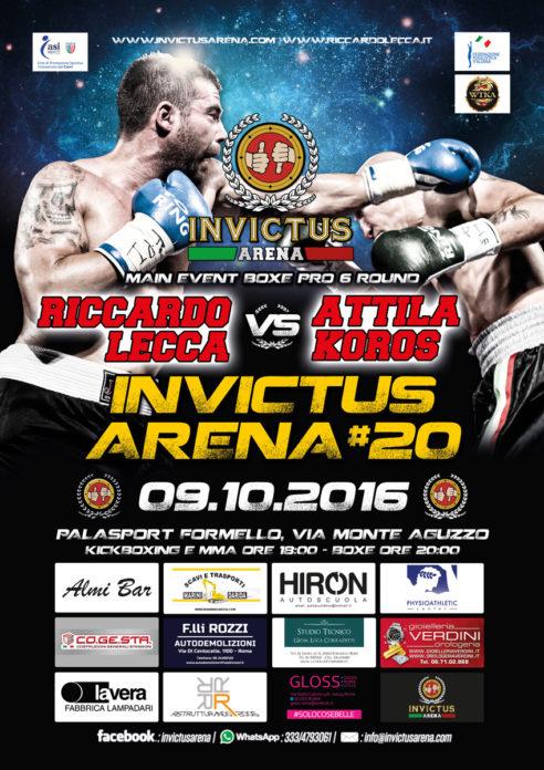 Invictus Arena 20 Riccardo Lecca boxe pro