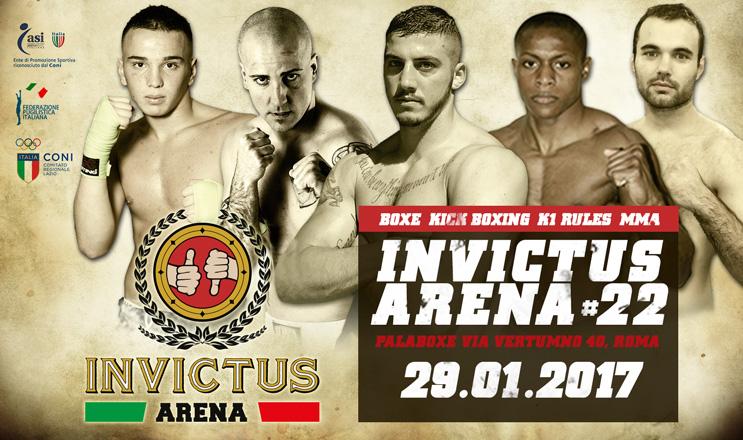 Tutto pronto per Invictus Arena XXII