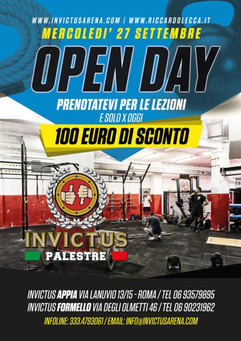Invictus Palestre, allenamento gratuito e maxisconto di 100 euro sull'abbonamento!