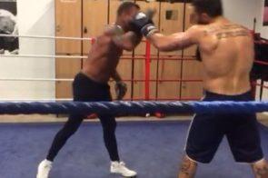 Riccardo Lecca in preparazione a Londra per il titolo internazionale WBC contro Goddi