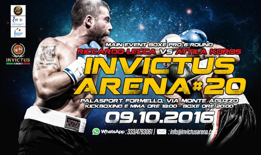 Domenica 9 Ottobre a Formello Riccardo Lecca sul ring di Invictus Arena