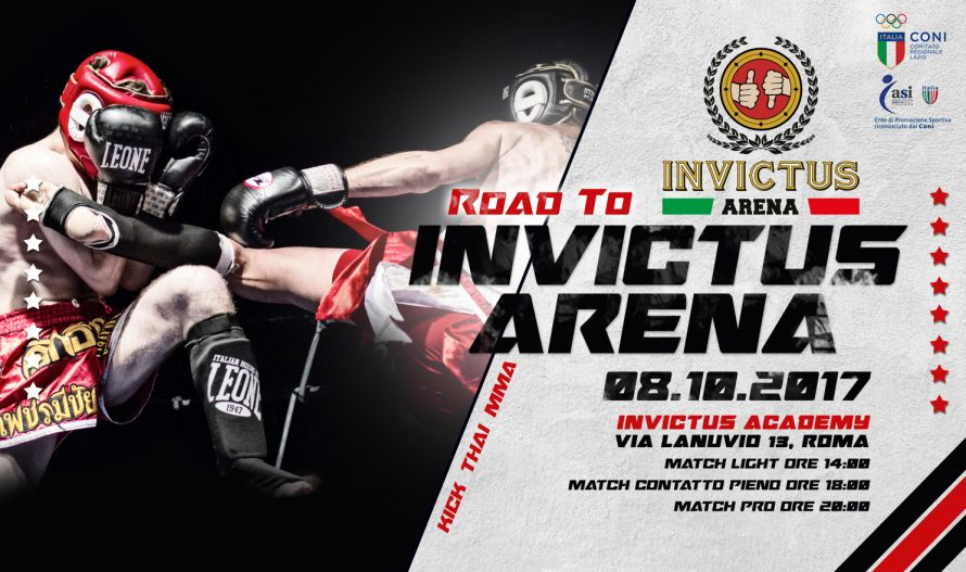 Road To Invictus Arena, Kick, Thai e MMA: 8 Ottobre 2017
