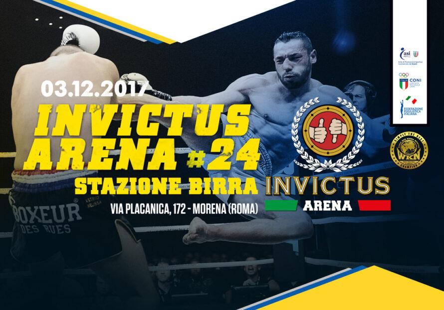 3 Dicembre, Invictus Arena #24 / Stazione Birra, Roma