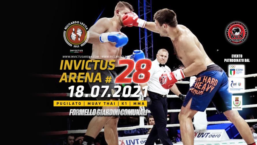 Invictus Arena #28, Boxe Muay Thai K1 MMA
