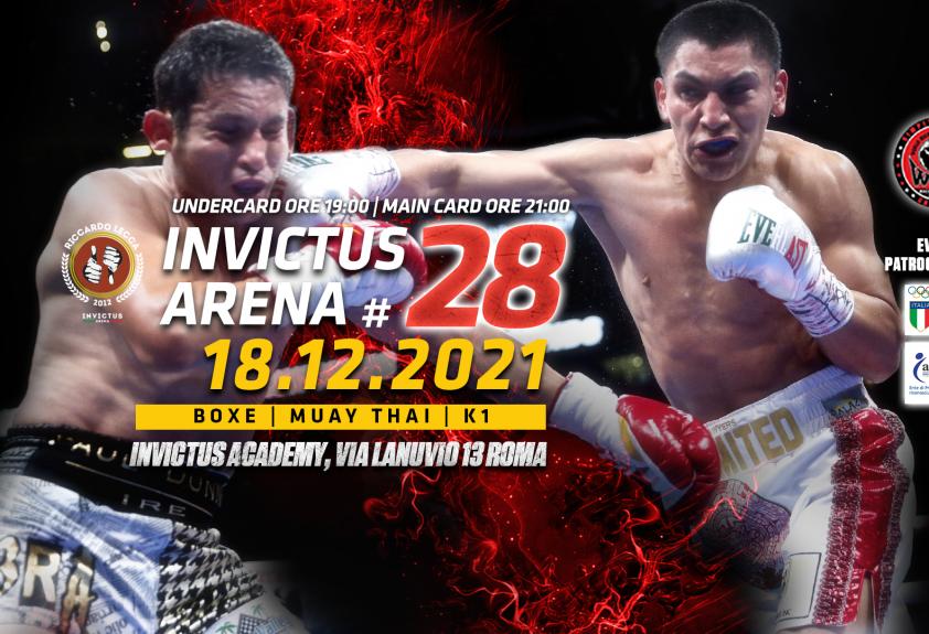 Invictus Arena #29 | 18 Dicembre 2021 | Boxe, Kick Boxing, Muay Thai